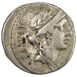 ROMAN REPUBLIC: Mn. Acilius, 49 BC, AR denarius (3.86g), Rome. VF