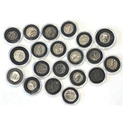 ROMAN REPUBLIC: LOT of 20 silver denarii of the Roman Republic