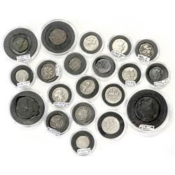 ROMAN REPUBLIC: LOT of 20 coins of the Roman Republic, circa 215-80 BC, including Dioscuri-type
