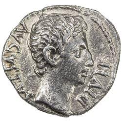 ROMAN EMPIRE: Augustus, 27 BC - 14 AD, AR denarius (3.59g), Lugdunum. VF