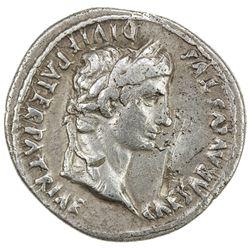ROMAN EMPIRE: Augustus, 27 BC - 14 AD, AR denarius (3.74g), Lugdunum. VF