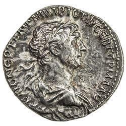 ROMAN EMPIRE: Trajan, 98-117 AD, AR denarius (3.06g), Bostra, ND (114-116). VF-EF