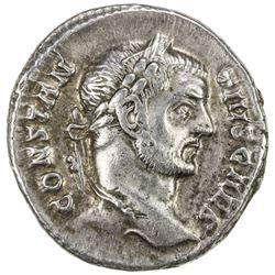 ROMAN EMPIRE: Constantius I, as caesar, 293-305 AD, AE argenteus (3.21g), Rome. VF