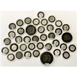 ROMAN EMPIRE: LOT of 38 coins of the late Severan dynasty, including Elagabalus & Severus Alexander
