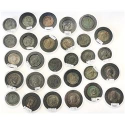 ROMAN EMPIRE: LOT of 29 large bronzes of different types from the Tetrarchy and onwards