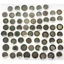 ROMAN EMPIRE: LOT of 66 coins of different types from the late third to the early fifth century