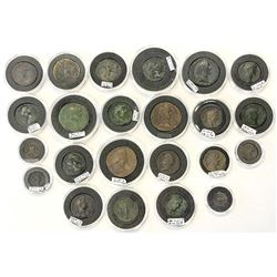 ROMAN EMPIRE: LOT of 23 bronze coins of different types of the early Roman Empire