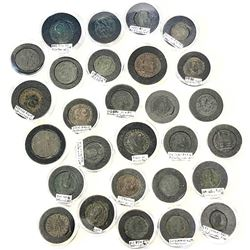 ROMAN EMPIRE: LOT of 28 small bronzes of all different rulers of the fourth century