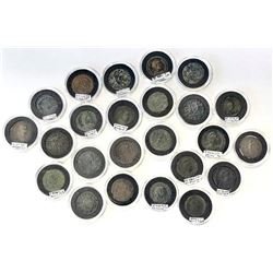 ROMAN EMPIRE: LOT of 24 medium-sized bronzes (AE2) of different types from the Tetrarchy and onwards