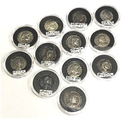 ROMAN EMPIRE: LOT of 12 silver siliquae from the late 4th century