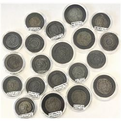 ROMAN EMPIRE: LOT of 20 higher-grade small bronzes of different types of the Constantinian dynasty