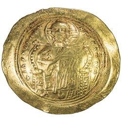 BYZANTINE EMPIRE: Constantine IX Monomachus, 1042-1055, AV histamenon (4.36g). VF-EF