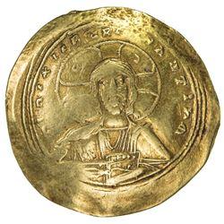 BYZANTINE EMPIRE: Constantine IX Monomachus, 1042-1055, AV histamenon (4.13g). VF
