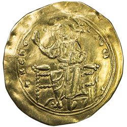 BYZANTINE EMPIRE: Alexis I Comnenus, 1081-1118, AV hyperpyron (3.87g), Constantinople. VF