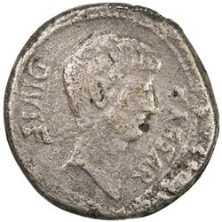 "PADUAN & LATER IMITATIONS: ROMAN IMPERATORIAL: Octavian, cast AE ""sestertius"" (17.14g). VF"