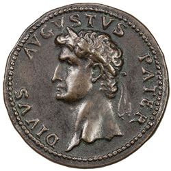 PADUAN & LATER IMITATIONS: ROMAN EMPIRE: Divus Augustus, died 14 AD, AE cast medal (20.03g). VF-EF