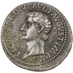 "PADUAN & LATER IMITATIONS: ROMAN EMPIRE: Tiberius, 14-37 AD, white metal cast ""sestertius"" (27.66g)."