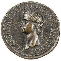 "PADUAN & LATER IMITATIONS: ROMAN EMPIRE: Caligula, 37-41 AD, AE cast ""sestertius"" (19.71g). VF-EF"