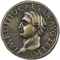 "PADUAN & LATER IMITATIONS: ROMAN EMPIRE: Otho, 69 AD, AE cast ""sestertius"" (22.05g). VF"