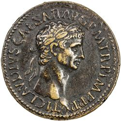 "PADUAN & LATER IMITATIONS: ROMAN EMPIRE: Claudius, 41-55 AD, AE cast ""sestertius"" (16.84g). VF"