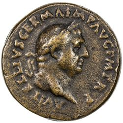 PADUAN & LATER IMITATIONS: ROMAN EMPIRE: Vitellius, 69 AD, AE cast  sestertius  (36.14g). F