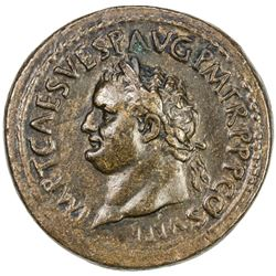 "PADUAN & LATER IMITATIONS: ROMAN EMPIRE: Titus, 79-81 AD, AE cast ""sestertius"" (28.32g). VF"
