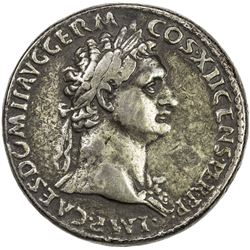 "PADUAN & LATER IMITATIONS: ROMAN EMPIRE: Domitian, 81-96 AD, white metal cast ""sestertius"" (23.39g)."