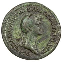 "PADUAN & LATER IMITATIONS: ROMAN EMPIRE: Domitia, 81-96 AD, AE cast ""sestertius"" (14.69g). VF"