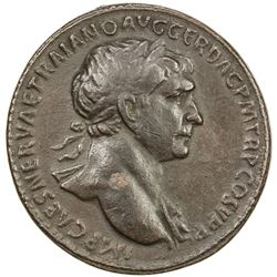PADUAN & LATER IMITATIONS: ROMAN EMPIRE: Trajan, 98-117 AD, AE cast  sestertius  (20.41g). VF-EF