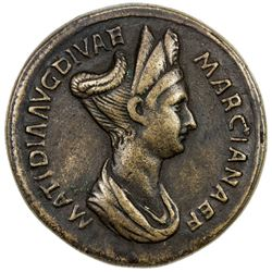 "PADUAN & LATER IMITATIONS: ROMAN EMPIRE: Matidia, AE cast ""sestertius"" (27.28g). VF-EF"