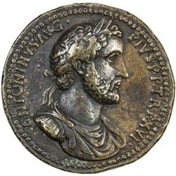 PADUAN & LATER IMITATIONS: ROMAN EMPIRE: Antoninus Pius, 138-161 AD, AE cast medal (23.24g). VF
