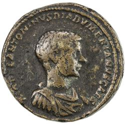"PADUAN & LATER IMITATIONS: ROMAN EMPIRE: Diadumenian, 217-218 AD, AE cast ""sestertius"" (29.97g). F"