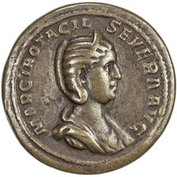 PADUAN & LATER IMITATIONS: ROMAN EMPIRE: Otacilia Severa, 244-249 AD, AE cast medal (29.14g). F-VF