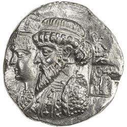 ELYMAIS: Kamnaskires III & Anzaze, ca. 82-72 BC, AR tetradrachm (14.61g), S23x. EF