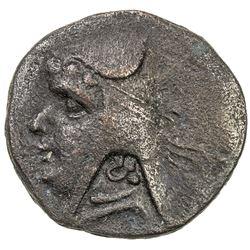 PARTHIAN KINGDOM: Mithradates I, c. 171-138 BC, AE chaldous (3.64g), Hekatompylos. VF