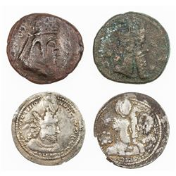 SASANIAN KINGDOM: LOT of 4 coins coins: Ardashir I (224-241)