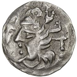 SAMARKAND: Anonymous, ca. 2nd-4th century, AR obol (0.62g). EF