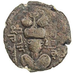 ARAB-SASANIAN: Muhammad b. Jabir, dates undetermined, AE pashiz (2.36g), Junday Sabur, ND/DM. VF