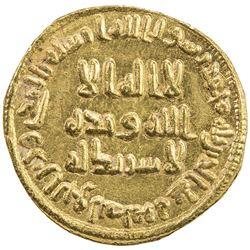UMAYYAD: 'Abd al-Malik, 685-705, AV dinar (4.23g), NM (Dimashq), AH81. EF-AU