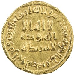 UMAYYAD: 'Abd al-Malik, 685-705, AV dinar (4.20g), NM (Dimashq), AH83. EF