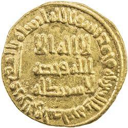 UMAYYAD: al-Walid I, 705-715, AV dinar (4.24g), NM (Dimashq), AH90. EF-AU