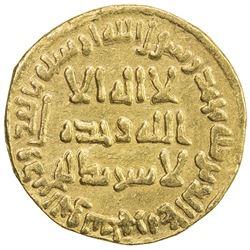 UMAYYAD: Yazid II, 720-724, AV dinar (4.00g), NM (Dimashq), AH103. VF