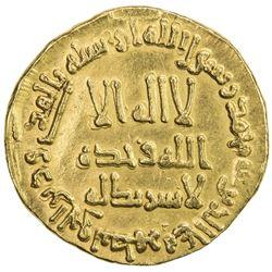 UMAYYAD: Hisham, 724-743, AV dinar (4.39g), NM (Dimashq), AH110. VF-EF