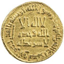 UMAYYAD: Hisham, 724-743, AV dinar (4.25g), NM (Dimashq), AH112. EF