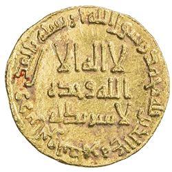 UMAYYAD: Hisham, 724-743, AV dinar (4.27g), NM (Dimashq), AH119. EF-AU