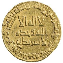 UMAYYAD: Hisham, 724-743, AV dinar (4.25g), NM (Dimashq), AH122. EF