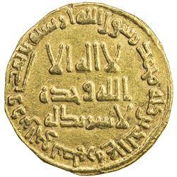 UMAYYAD: Hisham, 724-743, AV dinar (4.05g), NM (Dimashq), AH123. VF