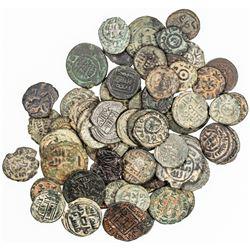 UMAYYAD: COLLECTION of 60 Umayyad copper fulus, average circulated condition