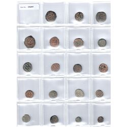 UMAYYAD: LOT of 19 copper fulus, average Fine, some nicer, many with usual weakness of strike
