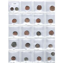 UMAYYAD: LOT of 23 copper fulus without mint name or with mint off flan (some identifiable)